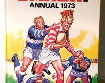 1973 SMASH Annual. Collectible Memorabilia. Nostalgia Sports Comic Book Hard Back. Vintage Retro British