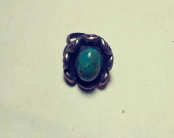 Handcrafted Turquoise Ring Sterling Silver Original (Free Shipping)