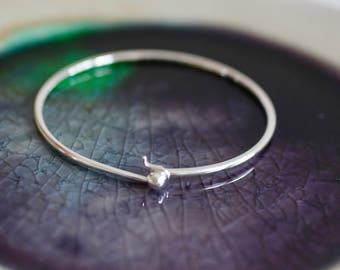 Sterling Silver Bangle -  Hook Bracelet - Charm Bangle - Silver Bangle - Charm Bangle - Silver Charm Bangle - Gift For Her - Charm Bracelet