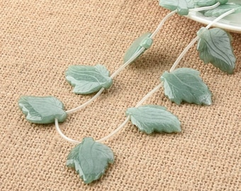 One Strand 18*24MM aventurine Leaf DIY Jewelry