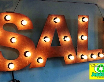 "Flat Metal Lighted ""SALE"" Sign"