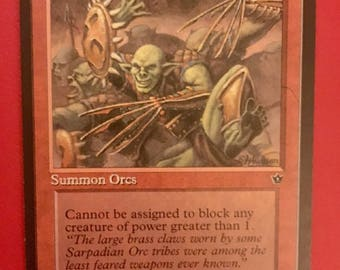 "NEW LISTING! MTG - One Magic the Gathering ""Brassclaw Orcs"" Card - Vintage/Antique"