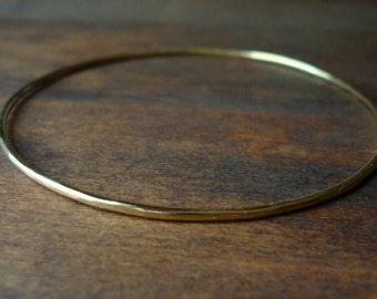 Bangle- Gold Thin- Large
