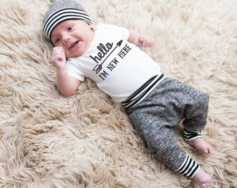 Baby joggers newborn baby boy outfit baby boy going home outfit hospital outfit boy baby sweatpants