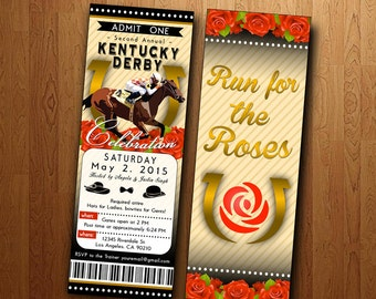 Kentucky Derby Party: Printable Ticket Invite