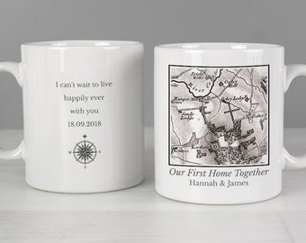 Personalised 1805 - 1874 Old Series Map Compass Mug