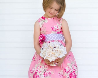 PDF Sewing Pattern - Pattern for Girls Clothes - Girls Dress PDF Sewing Pattern