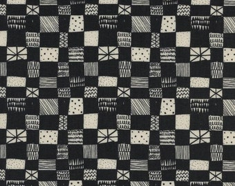 Grid In Dark Charcoal Print Shop Collection By Alexia Marcelle Abegg for Cotton & Steel Fabrics