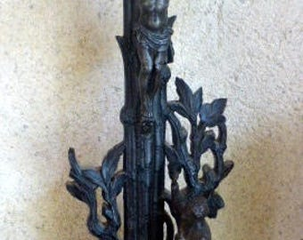 Antique black forest alter cross  crucifix