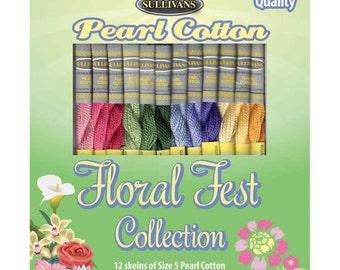 Floral Fest Sullivans Size 5 Pearl Cotton Pack