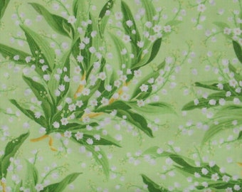 Green, White and Yellow Floral Cotton Quilt Blender Fabric, Greenery Collection by Maywood Studio, Yardage, MAS8290-G