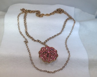 Long Pink and Light Purple Vintage  Necklace