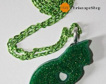 ' Gatto ' resin necklace