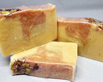 Rosewater Cold Process Goat milk soap