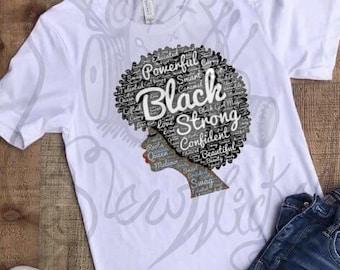 Black is Beautiful Afro T-Shirt