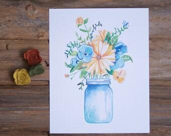 Spring Pickins - Floral Illustration - Bouquet Art Print