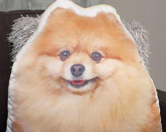 Adorable Pomeranian Shaped Cushion
