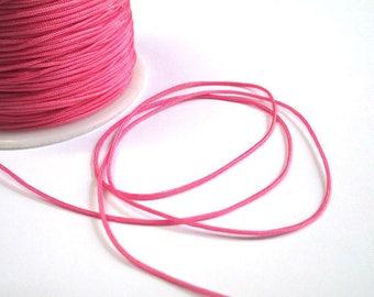 5 m wire braided pink nylon 1 mm