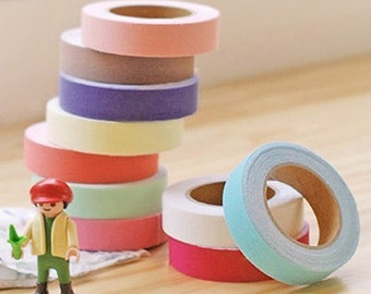 Pastel Solid Adhesive Fabric Tape (0.6in)
