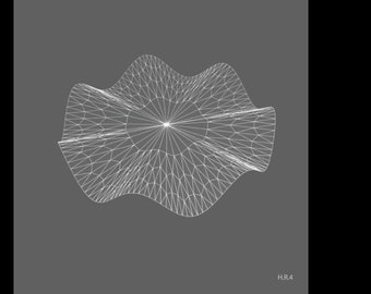 Geometric Print: Hyperbolic Collection, Radial Series, Print #4