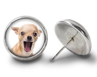 Chihuahua Earrings - Chihuahua Earring - Dog Earrings - Pet Earrings - Chihuahua Jewelry for Her (Pair) Lifetime Guarantee (E0289)