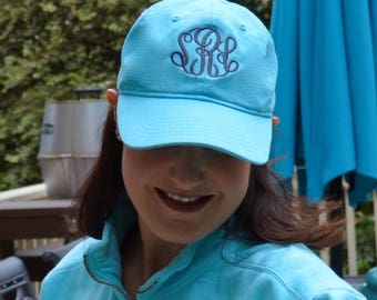 Monogrammed  COMFORT COLORS Baseball Cap---NEW!!!