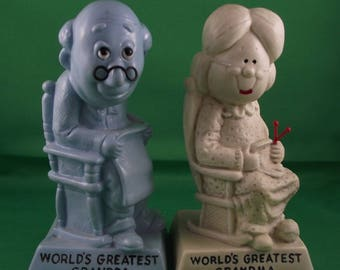 Russ Berrie & Co Grandma and Grandpa Figurines