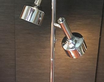 1970's 3 light chrome pole lamp