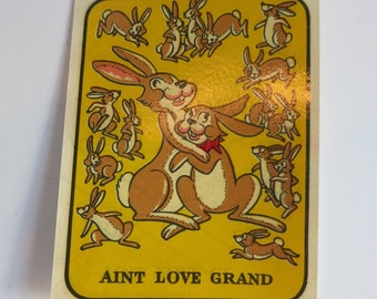 Vintage Water Slide Decal Rabbits - Ain't Love Grand