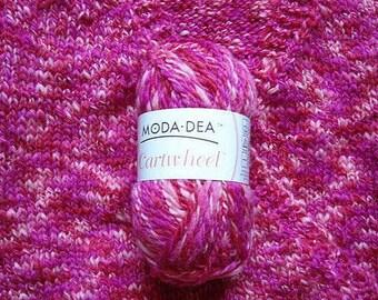 Moda Dea Cartwheel Yarn Wool Yarn Raspberries Yarn Pink Yarn Aran Weight Yarn destash yarn