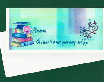 Graduation Money Card, Graduation Card for Female , Graduation Best Wishes