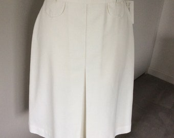 Vintage 1980s St Michael off white skirt UK 12