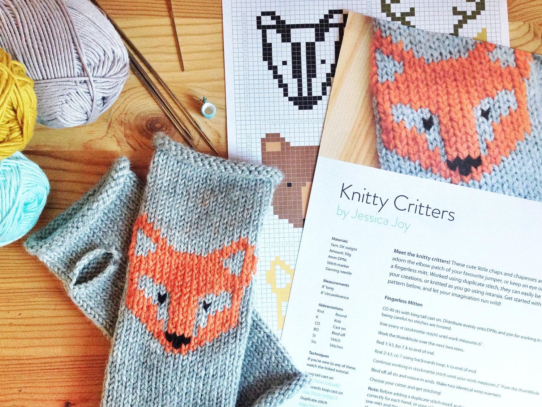 Knitty Critters Woodland Knitting Pattern PDF Colour Chart