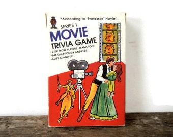 Vintage Movie Trivia Card Game - Professor Hoyle, Series 1, #7030 - fun party game, cards, film, cinema, nostalgia, pop culture,ages 12 & up