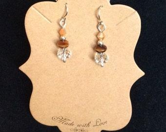 Sterling  silver Swarovski crystal briolette earrings