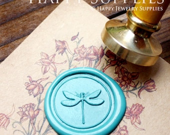 Buy 1 Get 1 Free - Wax Seal Stamp - 1pcs Dragonfly Metal Stamp / Wedding Wax Seal Stamp / Sealing Wax Stamp (WS017)