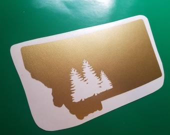 Montana Pine Tree Vinyl Decal