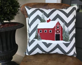 Red Barn pillow cover/Red Barn decor/Red Barn/Barn
