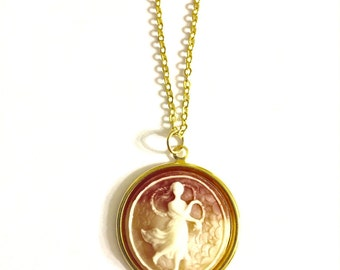 Virgo Astrology Necklace, Astrology Necklace, Vintage Astrology Cameo Necklace