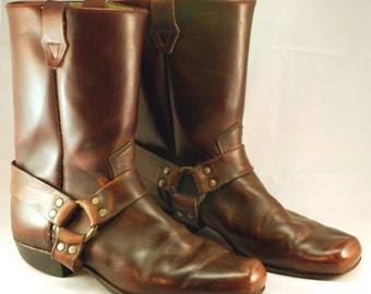 REDUCED! Vintage Harness Boots Women's 7.5 Mens 5.5