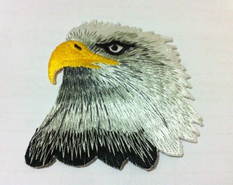 Bald Eagle (7.5 x 7.5 cm) Embroidered Iron on Applique Patch (B)
