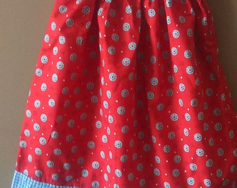 Summer dress for little girl,red summer dress