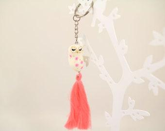 Spring cold porcelain hanging OWL
