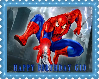 SPIDERMAN (1) - Edible Cake Topper and Cupcake Topper