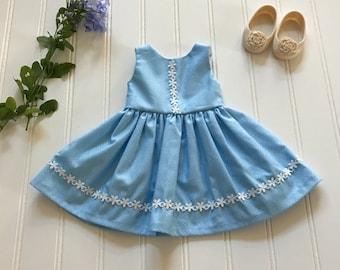 Blue summer doll dress