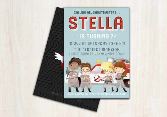 Ghost Buster Gals Invitation - Ghost party invite - ghost birthday party