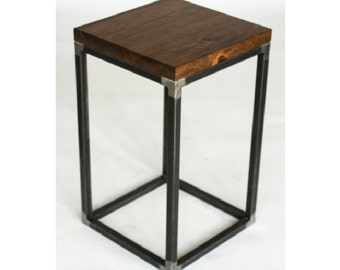 Reclaimed Wood Side Table/End Table: Wilner Design