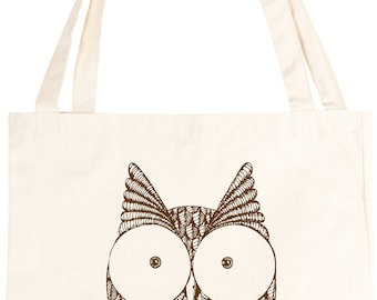 Cute Owl Cotton Tote Bag