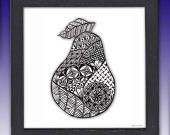 Framed Pear Print