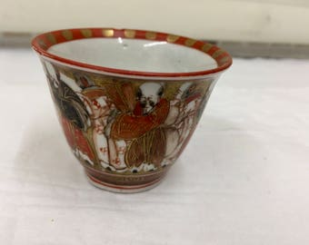 Antique Oriental Porcelain Tea Bowl  circa 1865